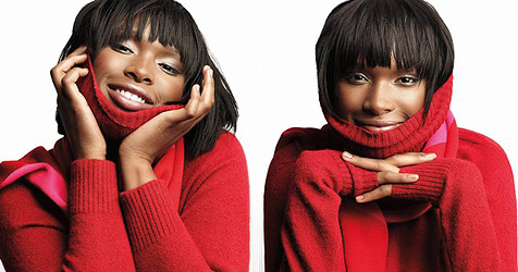 Jennifer Hudson lächelt auf Modebildern