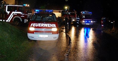 Schwere Unwetter im Flachgau - Gasthaus evakuiert (Bild: BFV Liezen)