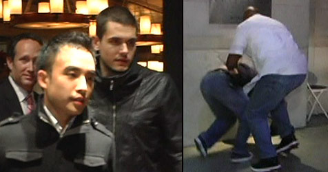 John Mayers Bodyguard geht auf Paparazzo los (Bild: Bullspress)