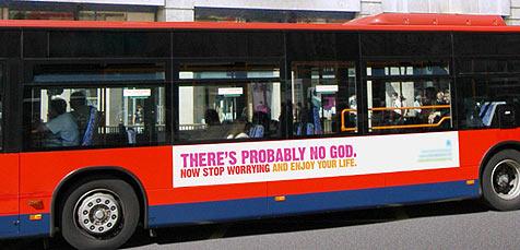 Kampagne gegen den Glauben an Gott (Bild: G. Nunn/atheistcampaign.org)