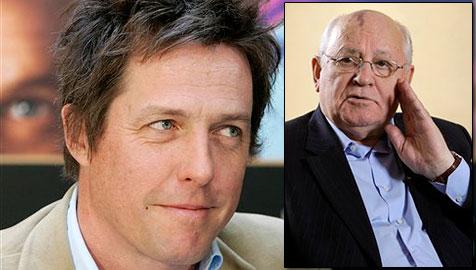Hugh Grant kauft Essen mit Gorbatschow