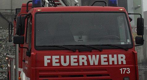 Bagger brannte auf der A8 - Feuer unter der Motorhaube (Bild: Andreas Schiel)