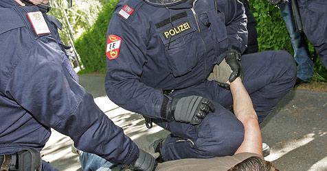 Wildgewordener Autofahrer geht auf Polizisten los (Bild: APA-FOTO: GEORG HOCHMUTH)