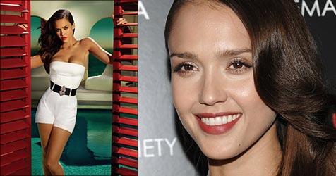 """Auch bei Jessica Alba wird """"nachgeholfen"""" (Bild: Joss Gerard für Campari, AP Photo)"""