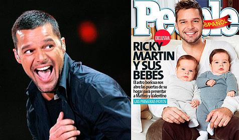 Ricky Martin zeigt seine Zwillinge