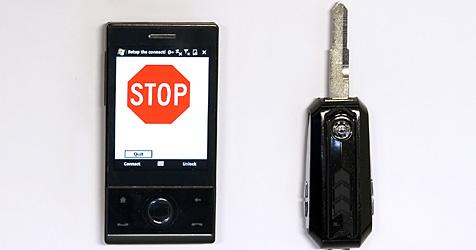 Autoschlüssel stoppt Handy-Gespräche (Bild: University of Utah)