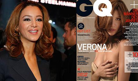 Verona Pooth startet nackt ins neue Jahr (Bild: Tony Duran für GQ Jänner 2009)