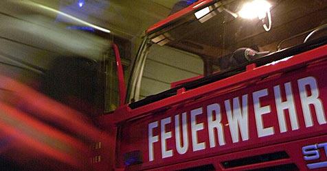 Laster geht in Puch bei Hallein in Flammen auf (Bild: APA/Schlager Roland)