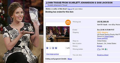 Scarletts Taschentuch für 5.300 Dollar versteigert