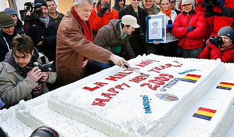 281 Kilogramm schwerer Kuchen  in Rumänien