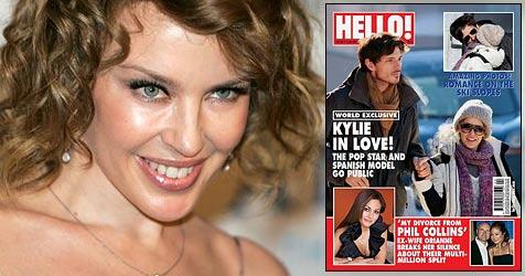 Kylie Minogue mit neuer Liebe? (Bild: AP Photo, Cover Magazin Hello!)