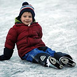Die besten Tipps für sicheres Eislaufen auf Seen (Bild: Klemens Fellner)