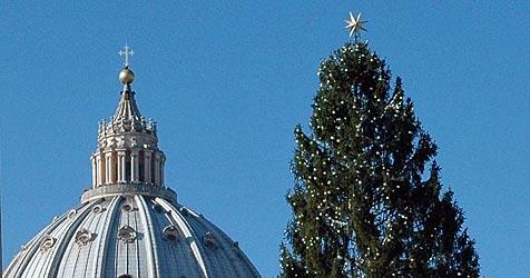 Christbaum war vom Petersplatz verschwunden (Bild: apa/ERNST WEISS)