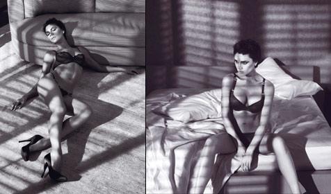 Victoria Beckham hat sich für Armani entblößt