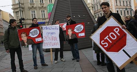 Aufstand gegen ungeliebte Zentralmatura (Bild: Horst Einöder)