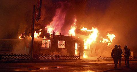 Feuer in Nachtclub wurde gelegt (Bild: APA/FF SOLLENAU)