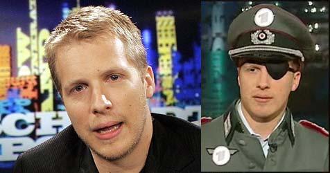 Auftritt in Nazi-Uniform: Wirft ARD Pocher raus? (Bild: dpa/A3637 Jörg Carstensen, ARD)