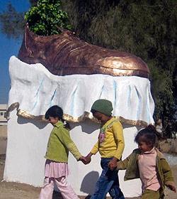 """Denkmal für """"Schuhwerfer von Bagdad"""""""