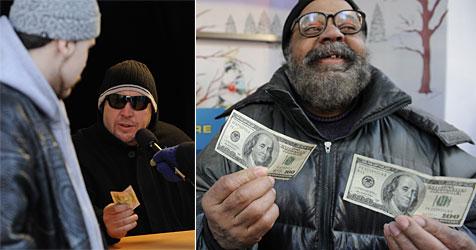 Unbekannter verschenkt Geld an Bedürftige (Bild: AFP)