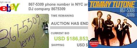 Telefonnummer um 187.000 Dollar versteigert (Bild: eBay)