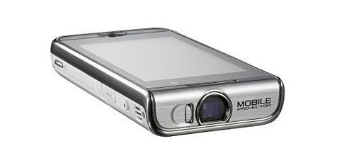 Samsung-Handy mit eingebautem Beamer (Bild: Samsung)