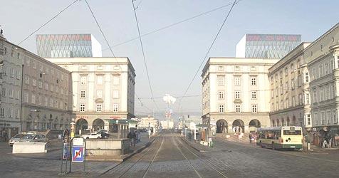 Proteststürme gegen geplante Glastürme (Bild: Krischanitz)