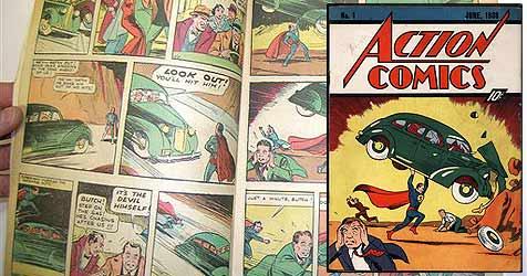 Superman-Comic für 1,1 Millionen Euro versteigert