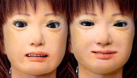 """Lehrerroboter """"Saya"""" zeigt menschliche Mimik (Bild: AP)"""