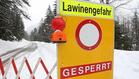 Lawinensituation in Salzburgs Bergen bleibt weiter heikel (Bild: APA/ Markus Leodolter)