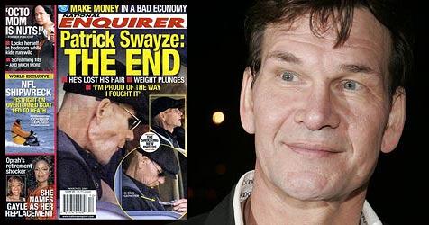 """Patrick Swayze wehrt sich: """"Bin nicht am Ende!"""" (Bild: AP Photo, Cover """"National Enquirer"""")"""