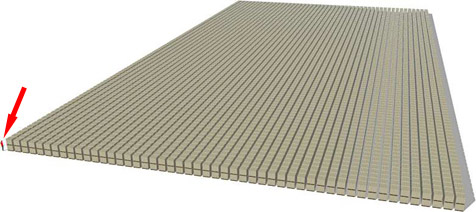 Mensch angesichts einer Billion US-Dollar winzig