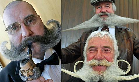 150 Bartträger wetteifern mit Gesichtsbehaarung
