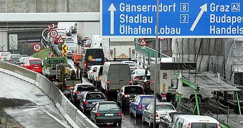 Anti-Stau-Anlage vor Toren Wiens nimmt Betrieb auf (Bild: ANDI SCHIEL)