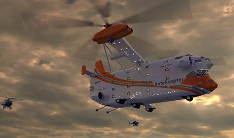 """Riesiger """"Hotelicopter"""" mit 18 Luxuszimmern (Bild: http://hotelicopter.com)"""