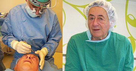 Richard Lugner kneift vor Schönheits-Operation (Bild: ATV)