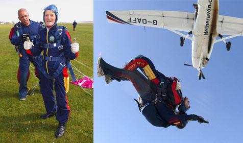 97-Jähriger ältester britischer Fallschirmspringer