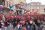 Demo gegen Regierung Berlusconi im Rom