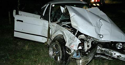 Auto überschlägt sich auf A22 - Lenker sofort tot (Bild: FF Korneuburg)