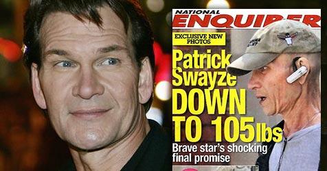 Patrick Swayze wiegt nur noch 48 Kilogramm! (Bild: National Enquirer)