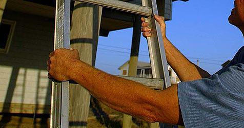 Beim Zwetschken-Pflücken von Leiter gestürzt - Mann tot (Bild: EPA)