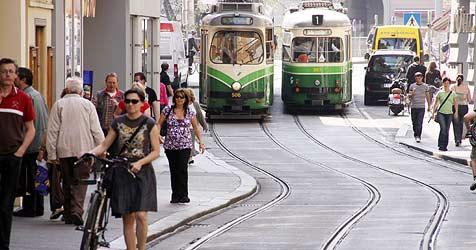 Weitere Straßenbahn in Linz und ins Mühlviertel (Bild: Christian Jauschowetz)
