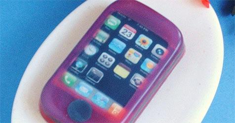 """Das iPhone gibt""""s jetzt auch als Seife (Bild: www.twoeggplants.com)"""