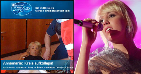 Annemarie kollabierte bei Auftritt in Heimatstadt (Bild: RTL/Stefan Gregorowius, Screenshot RTL)
