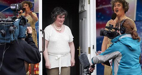 Susan Boyle erobert jetzt auch das Internet (Bild: AFP, AP)