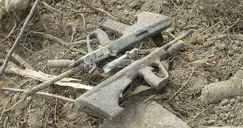 Arbeiter findet gestohlene Sturmgewehre (Bild: APA/Polizei)