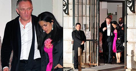 Salma Hayek heiratet maskiert in Venedig (Bild: AFP)