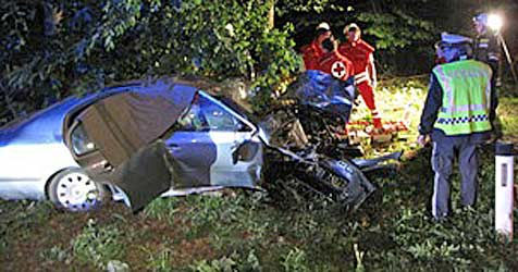23-jähriger Beifahrer bei Unfall getötet (Bild: FF Kemmelbach)