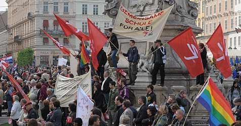 Schuldspruch nach eskalierter Mai-Demo in Linz (Bild: Chris Koller)