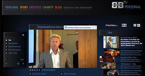 Beckers totale Selbstvermarktung im Internet (Bild: Screenshot Boris-Becker-TV)