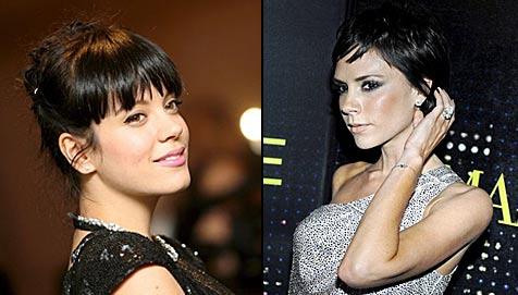 Lily Allen mit rüdem Foul gegen Victoria Beckham